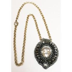 Naszyjnik Szaro-srebrny handmade mały