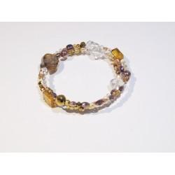 Elegancka bransoletka handmade w bursztynowym kolorze