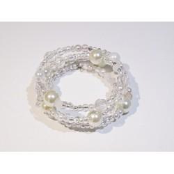 Elegancka bransoletka biała handmade