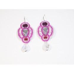 Różowe kolczyki handmade