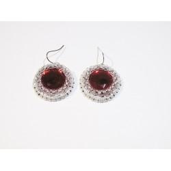 Eleganckie kolczyki czerwone handmade