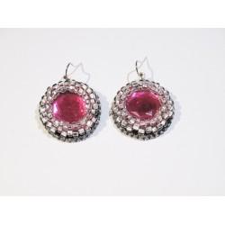 Eleganckie kolczyki różowe handmade