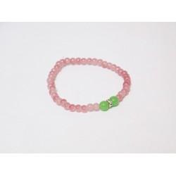 Bransoletka handmade różowo zielona